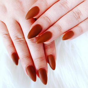 Ruby Red Nails Design