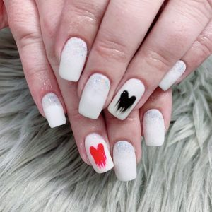 Dripping Paint Nails Design